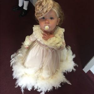 Other - Feathered flower girl dress!